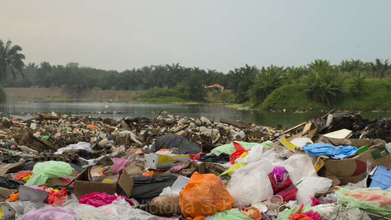 Trash in Countryside