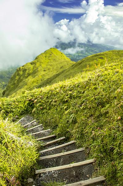Descending Mt. Pelee